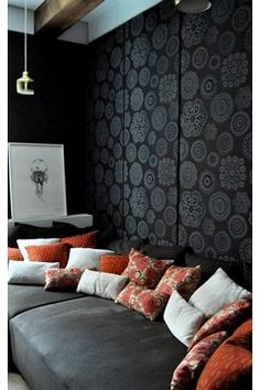 Swanky and soundproof upholstered walls.