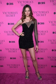 Model Barbara Fialho attends as Victoria's Secret Angels gather for an intimate viewing party of the 2017 Victoria's Secret Fashion Show at Spring Studios on November 28, 2017 in New York City.