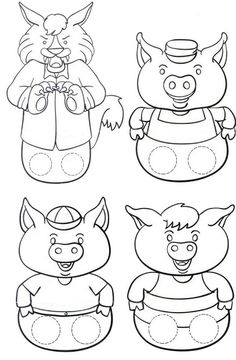 The Three Little Pigs Puppet Templates - the Three Little Pigs Puppet Templates , the Three Little Pigs Kindergarten Nana the Three Little Pigs Retelling Stick Puppets once Upon Three Little Pigs once Upon A Time In Gogoland