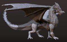 Dragon Concept Sculpt, Dave Jones on ArtStation at https://www.artstation.com/artwork/AyoqV