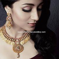 Trisha in Antique Gold Kasu Necklace