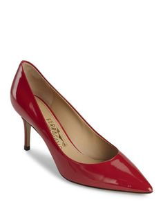 Red Susi Patent Leather Pumps