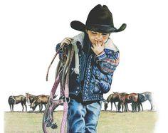 Impresión del arte occidental Cowponies de por BrucknerCowboyArt