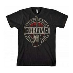 Nirvana Established 1988 Guitar Stamp T-Shirt - Show off that you love Pacific Northwest Pride by wearing this Nirvana Established 1988 Guitar Stamp T-Shirt.