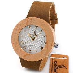 BOBO BIRD Retro Bamboo Wooden Watches Luxulry Brand Designer Watch Leather Band Quartz Watches for Women