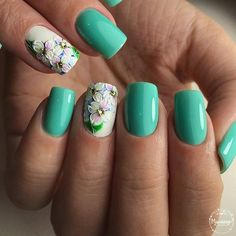 Cute and Simple Nail Art for School / Adorable Super Gel Manicure Art Ideas Nail Polish Style, Cute Nail Polish, Hot Nails, Hair And Nails, Gorgeous Nails, Pretty Nails, Spring Nails, Summer Nails, 3d Flower Nails