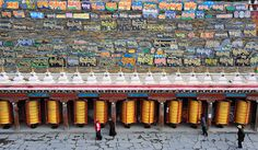 Mani stone wall at the Jinlong Gön a nunnery, Tibet 2013 | Flickr - Photo Sharing!