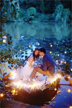 Little Mermaid and Monet inspired wedding shoot by Kay English
