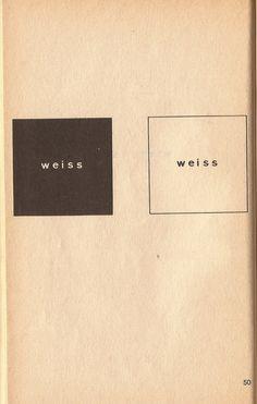 Heinz Gappmayr 1970    weiss-- white