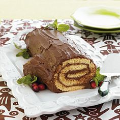 This traditional French cake resembles the Yule logs of long ago.