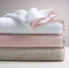 RH Baby & Child's Vintage Crochet Turkish Towels:A lusciously soft – and wonderfully absorbent – towel is a welcome sight after a bath. Ours is finished with delicate hand-crocheted trim, lending a nostalgic sense of warmth to the task at hand.