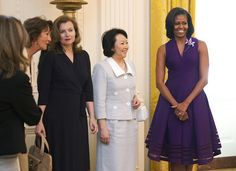 While G8 meetings are being held at Camp David, the First Lady has invited the G8 spouses to...