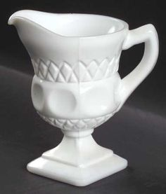McKee, Plymouth Thumbprint-Milkglass at Replacements, Ltd