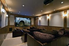 Top 70 Best Home Theater Seating Ideas – Movie Room Designs – Media Room İdeas 2020 Home Theater Room Design, Best Home Theater, At Home Movie Theater, Home Theater Rooms, Home Theater Seating, Theatre Design, Cinema Room, Ecran Projection, Home Theaters