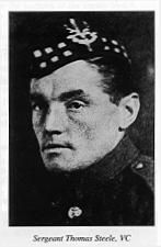 Victoria Cross winner Sergeant *Thomas Steele*, 1st Seaforth Highlanders, Sanniyat, Mesopotamia, 22nd February 1917
