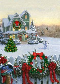 New vintage wallpaper fashion christmas cards Ideas Christmas Scenery, Noel Christmas, Victorian Christmas, Vintage Christmas Cards, Christmas Pictures, Christmas Crafts, Christmas Bedroom, Xmas, Country Christmas Decorations