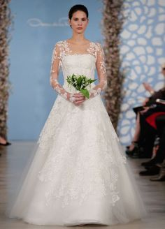 Holiday Wedding Ideas I Love | Loren's World Wedding Dresses 2014, Long Sleeve Wedding, Gorgeous Wedding Dress, Wedding Dress Sleeves, Designer Wedding Dresses, Bridal Dresses, Wedding Gowns, Lace Sleeves, Wedding Bouquets