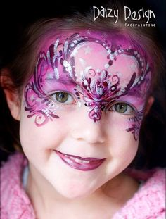 Valentine face paint