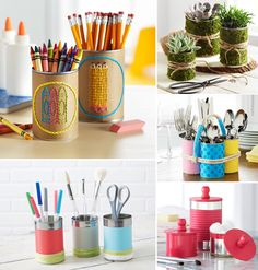 'Upcycle: 5 Ways to Reuse a Tin Can...!' (via The Glue String)