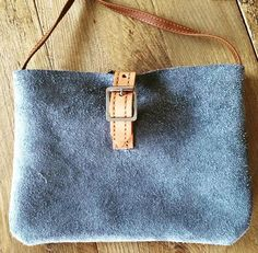 Soicé - small shoulderbag in grey, made of real leather so cute!