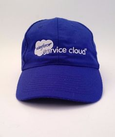 salesforce Service Cloud Blue Cap Hat One Size Computer Back Up Program Business #HitWear #BaseballCap