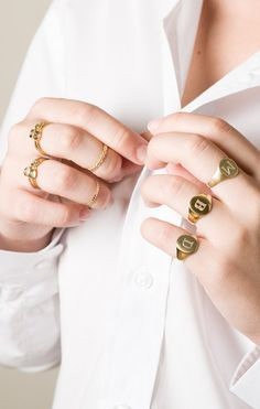 signet monogram ring