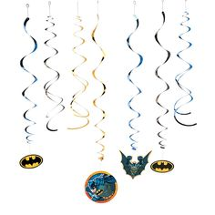 Invite Gotham's finest to your birthday party festivities! This Batman Hanging Swirl Decorations Value Pack will make decorating for your Batman birthday . Batman Party Decorations, Superhero Party Supplies, Create A Comic, Batman Birthday, 5th Birthday, Fighting Poses, Family Fun Night, You Are The World, Super Hero Costumes
