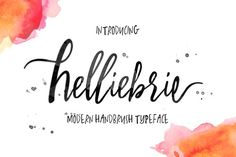 Helliebrie Typeface by thirtypath on @creativemarket