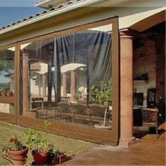 Waterproof Commercial Grade 0.5mm Vinyl Clear Awning Canopy Patio Enclosure | eBay