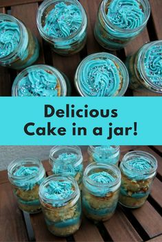 This cake in a jar recipe is a great alternative to cupcakes! The portions come already served, and guest can even take  their leftovers with them!