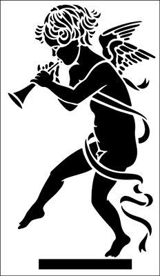 Cherub stencil from The Stencil Library ARCHITECTURE range. Buy stencils online. Stencil code AR80.