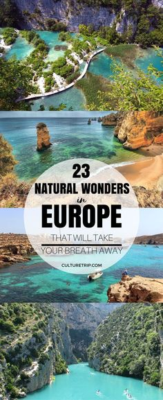 23 natural wonders in Europe that will take your breath away. From fertile mountain ranges and aquamarine coastlines to dramatic canyons and arctic tundras, these spots in Europe are a feast for all your senses. #europe #travel #naturalwonders