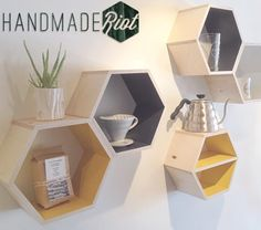 DIY Hexagon Wall Shelves- the EASY way!