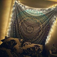 Add unique decor to your bedroom space by hanging Indian mandala hippie tapestry. Handmade from 100% Cotton The colours used in these wall hanging or Bedspread will match your bedroom decor. Beautiful Mandala Peacock Wall Hanging is one of the Gorgeous piece and from latest tapestry Collection for Bohemian and trendy Home decor. This Tapestry can be used in Beach and picnics.