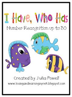 Loving and Learning in Pre-K: I Have, Who Has Games