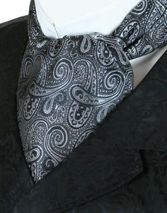 Coventry Ascot - Black / Silver Paisley