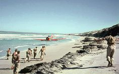 South African Air Force Harvard trainer rips up a beach on the Atlantic coast near Saldanha Bay with its propeller tips no more than three feet from the sandy surface. South African Air Force, Wagon R, Air Force Bases, Photo Story, Historical Pictures, Military Aircraft, Beach, Pilots, Airplanes