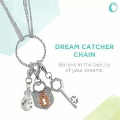 "Express your dreams with your favorite Dangles on our new 17.5"" Silver Dream Catcher Chain and make those dreams come true! What Dangles capture your story?"