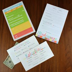 Need to send a quick note or cash to school? Our custom printed excuse pads and money envelopes make it much easier.