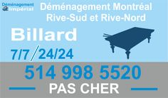 Demenagement Billard Montreal http://www.demenagementimperial.com/