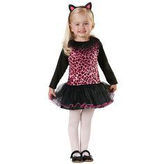girls pink leopard cat costume