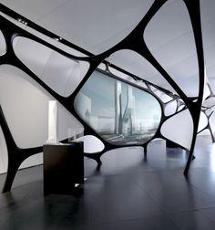 Future House, Institut du Monde Arabe by Zaha Hadid, Futuristic Interior Design