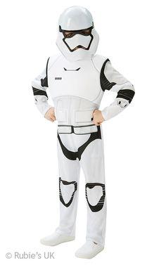 Original Star Wars VII Flame Storm Trooper Kostüm für Kinder Karneval 7 Fasching