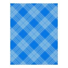 Blue Pattern Design Letterhead Template