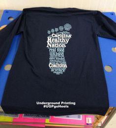 7355a6ccc Carolina Healthy Nation Coalition Custom T Shirt Printing, Printed Shirts, Chapel  Hill, North