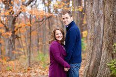 © Nicole Dixon Photographic Columbus Ohio Outdoor Engagement Session Autumn Fall Leaves Woods