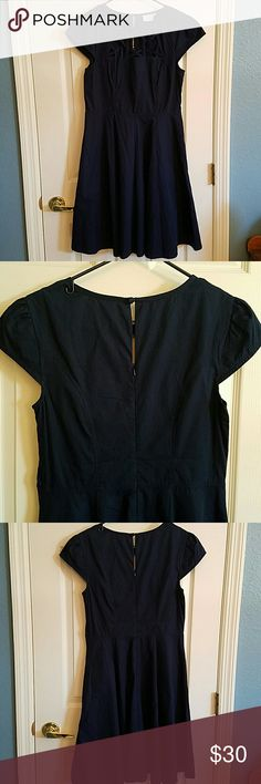 NWOT eShakti Navy Dress Never been worn, still has the extra button attached. Size Medium. Unfortunately, I cannot model. But I do entertain and accept reasonable offers! :) eshakti Dresses