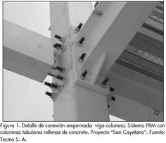 Ingeniería e Investigación - Evaluating a steel beam's rigid connection to a concrete filled tubular column when submitted to dynamic load