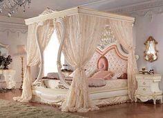 Romancing The Rose Studio is part of Bedroom decor - Nightynight ! Royal Bedroom, Bedroom Sets, Dream Bedroom, Home Bedroom, Girls Bedroom, Bedroom Decor, Elegant Home Decor, Elegant Homes, Luxury Bedroom Design