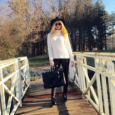 Into the woods Sweater Hat, Woods, Backpacks, Sunglasses, Bag, Heels, Sweaters, Leather, Pants